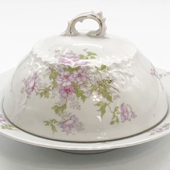 Vintage Habsburg Austria China Covered Butter Dish